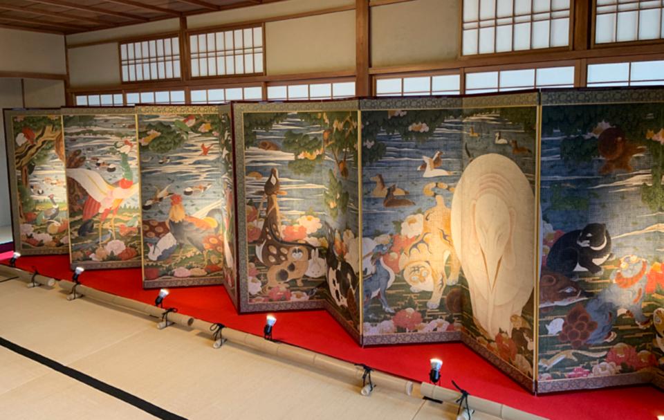 綴プロジェクト 高精細複製品 特別展示 奇想の画家 伊藤若冲「樹花鳥獣 ...